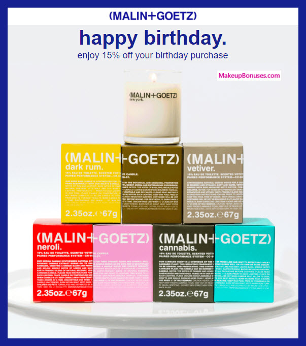 Malin+Goetz Birthday Gift - MakeupBonuses.com #malinandgoetz