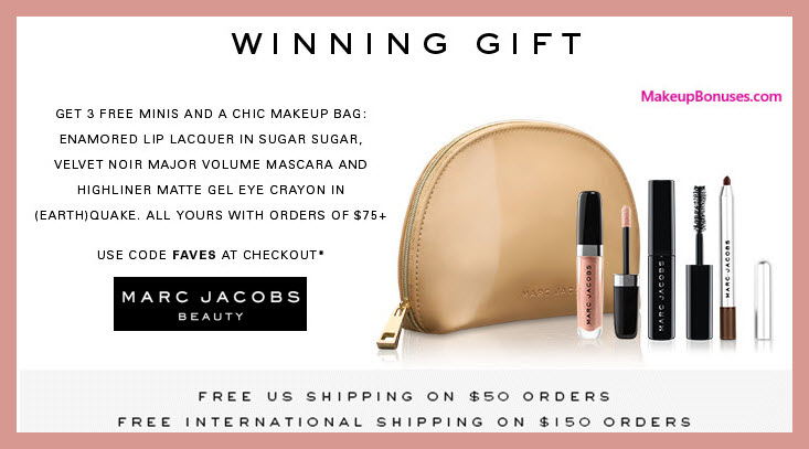 Receive a free 4-pc gift with $75 Marc Jacobs Beauty purchase