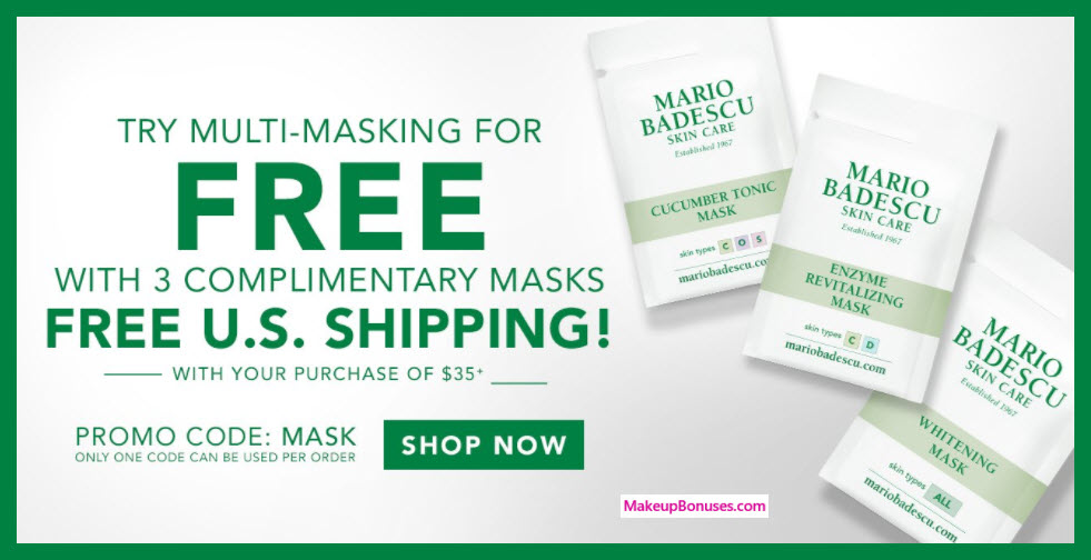 Receive a free 3-pc gift with $35 Mario Badescu purchase