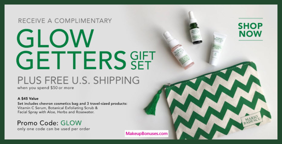 Receive a free 4-pc gift with $50 Mario Badescu purchase