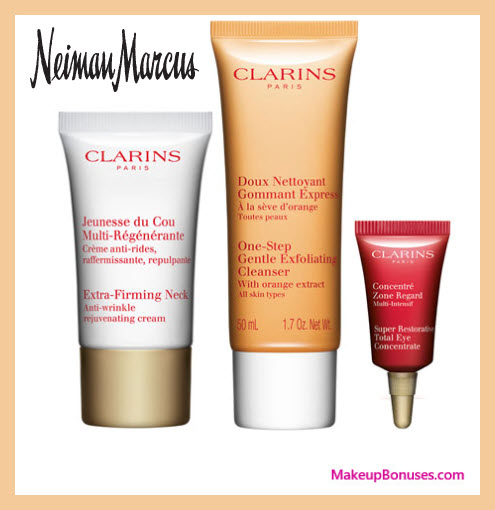 Receive a free 3-pc gift with $85 Clarins purchase