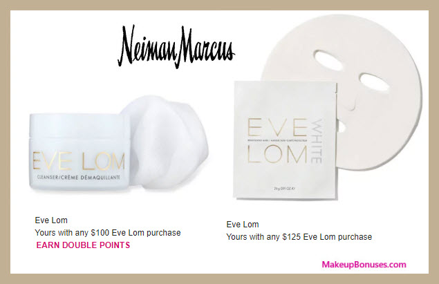 Receive a free 3-pc gift with $125 Eve Lom purchase