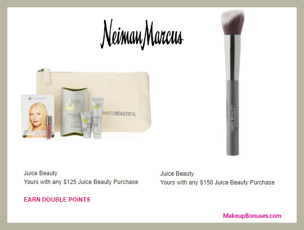 Receive a free 5-pc gift with $125 Juice Beauty purchase