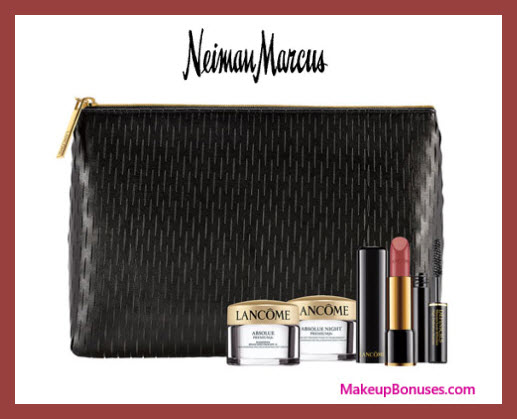 Receive a free 5-pc gift with $100 Lancôme purchase