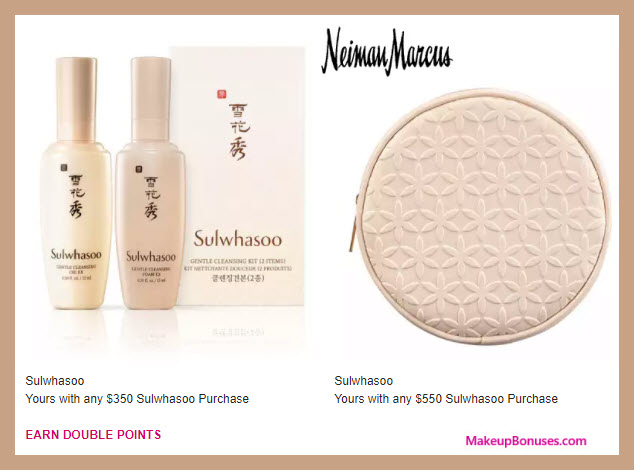 Receive a free 3-pc gift with $550 Sulwhasoo purchase