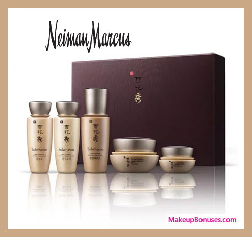 Receive a free 5-pc gift with $350 Sulwhasoo purchase