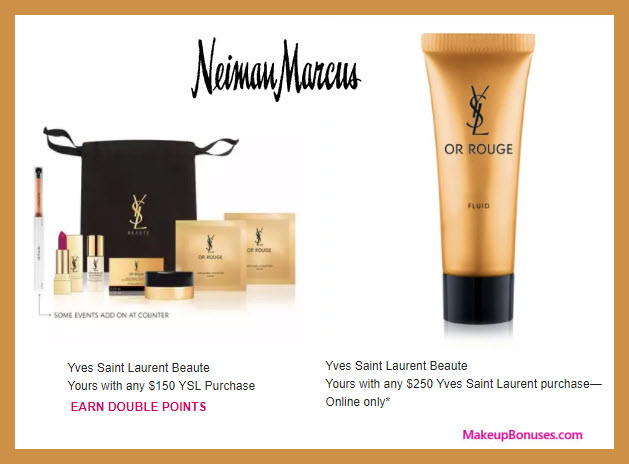 Receive a free 7-pc gift with $250 Yves Saint Laurent purchase