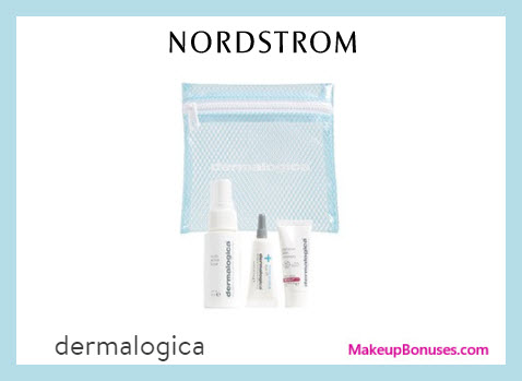 Receive a free 4-pc gift with $70 Dermalogica purchase