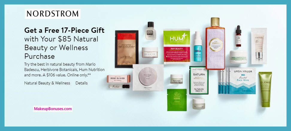 Nordstrom Free Bonus Gifts With Purchase Makeup Bonuses