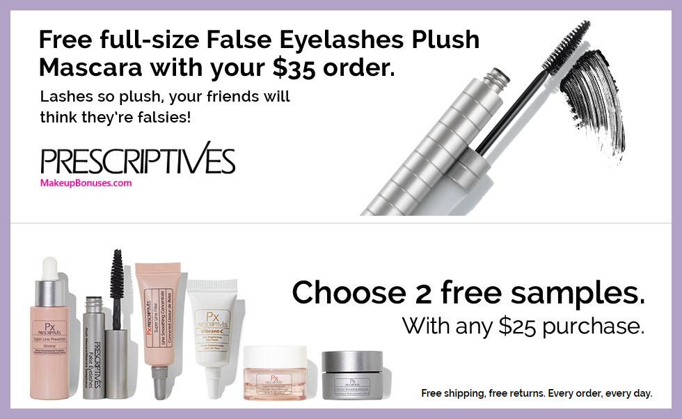 Prescriptives 3 Piece Free Bonus Gift Makeup Bonuses