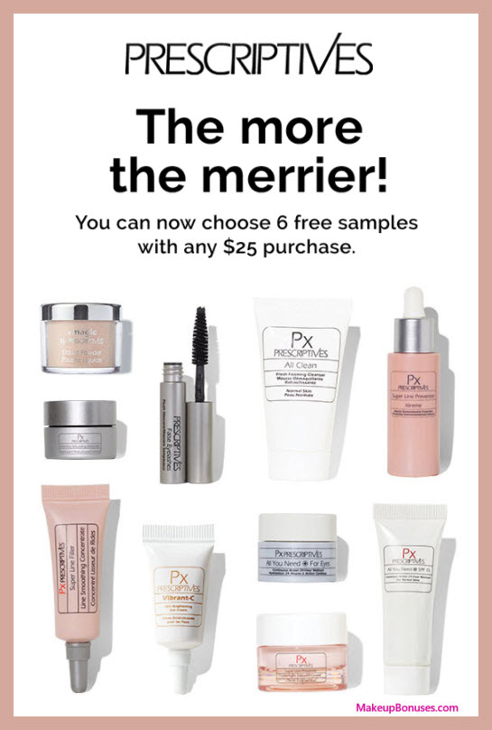 Receive your choice of 6-pc gift with $25 Prescriptives purchase