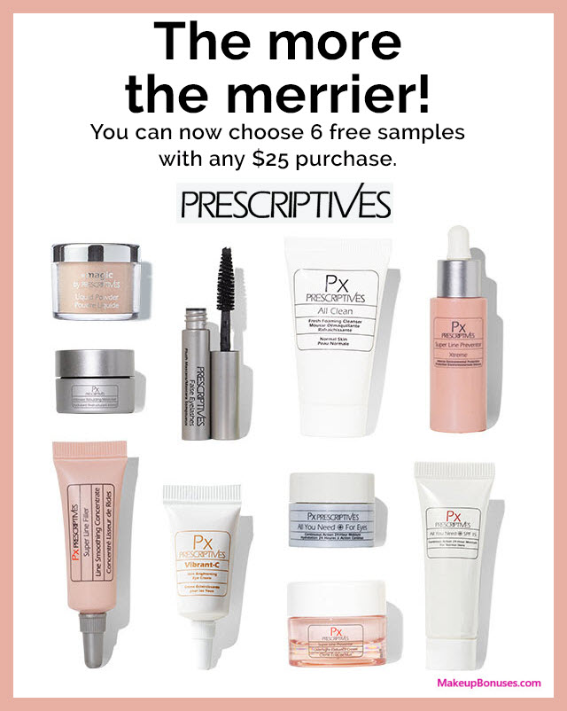 Receive your choice of 7-pc gift with $25 Prescriptives purchase