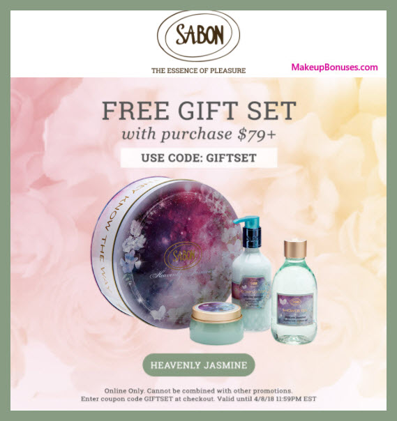 Receive a free 4-pc gift with $79 Sabon NYC purchase
