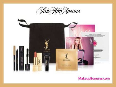Receive a free 7-pc gift with $150 Yves Saint Laurent purchase
