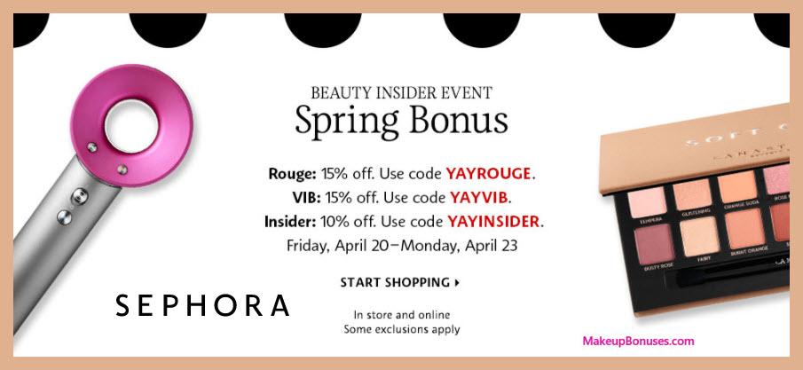 Sephora Beauty Insider Spring Discount - MakeupBonuses.com