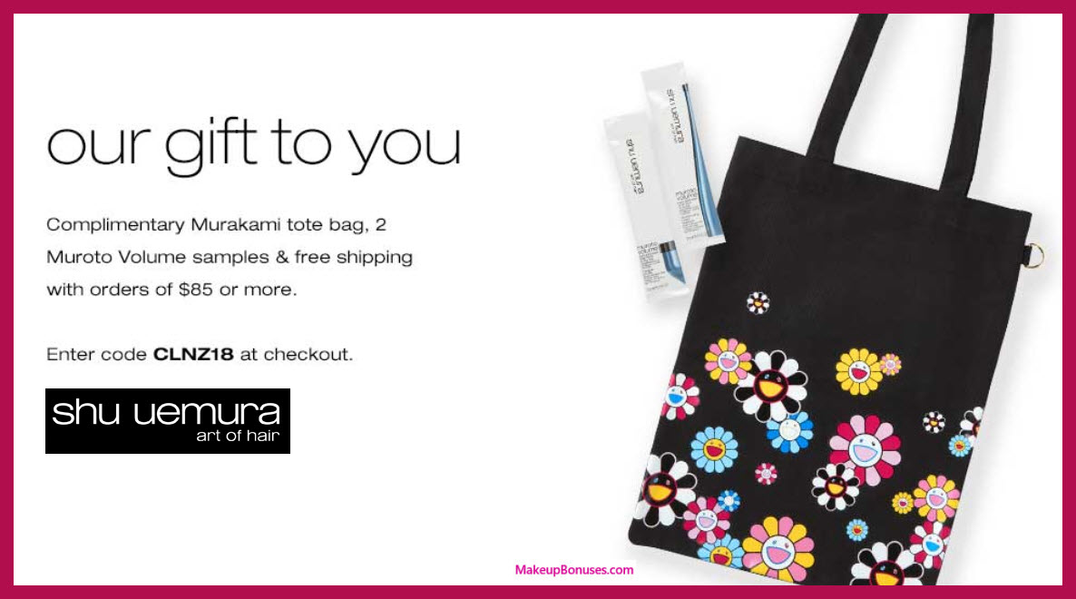 Receive a free 3-pc gift with $85 Shu Uemura Art of Hair purchase