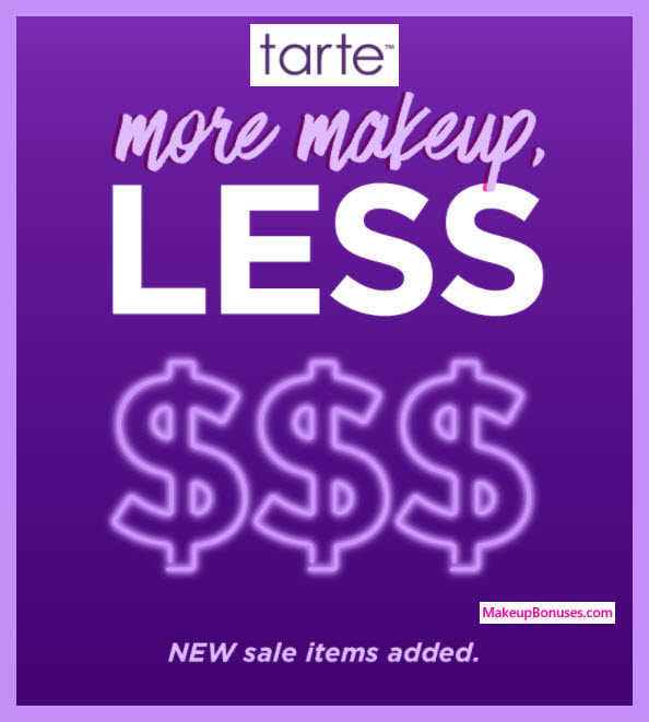 Tarte Sale up to 62% Off - MakeupBonuses.com