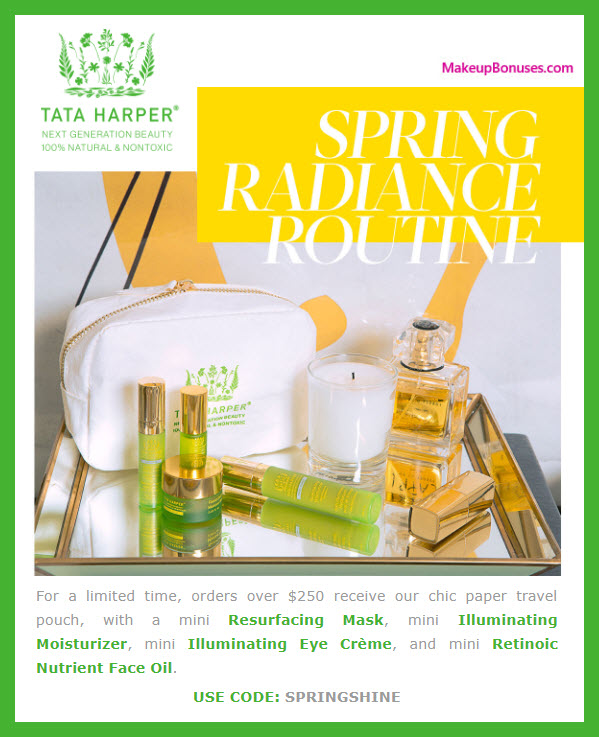 Receive a free 5-pc gift with $250 Tata Harper purchase