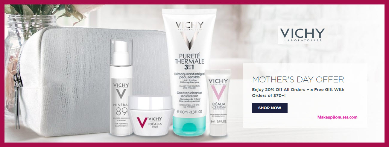 Receive a free 5-pc gift with $70 Vichy purchase