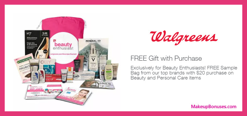 Receive a free 13-pc gift with $20 Beauty and Personal Care purchase