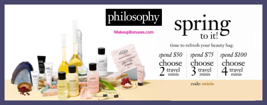 Receive a free 4-pc gift with $100 philosophy purchase