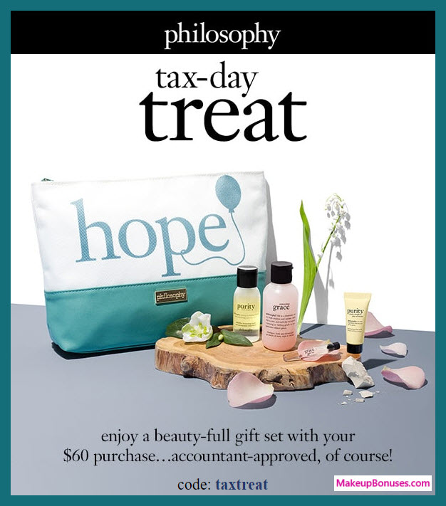 Receive a free 5-pc gift with $60 philosophy purchase