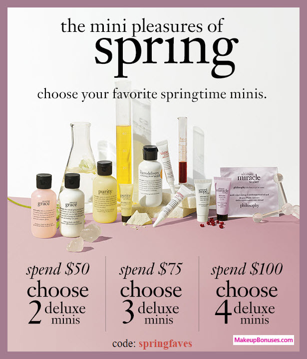 Receive your choice of 4-pc gift with $100 philosophy purchase