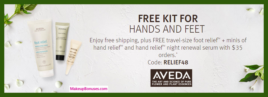 Receive a free 3-pc gift with $35 Aveda purchase