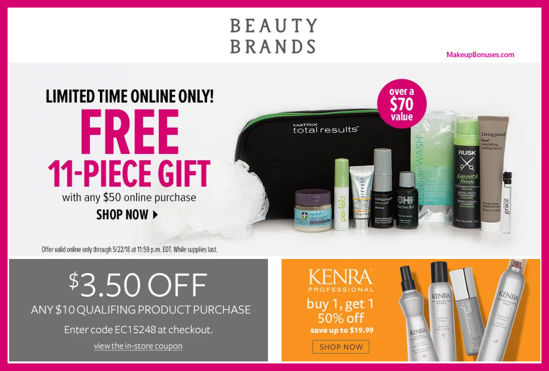 Receive a free 11-pc gift with $50 Multi- Brand purchase