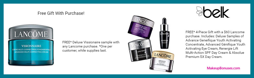 Receive a free 5-pc gift with $60 Lancôme purchase