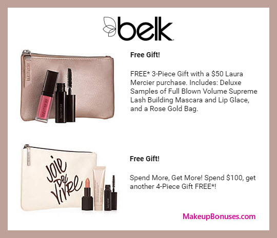 Receive a free 7-pc gift with $100 Laura Geller purchase