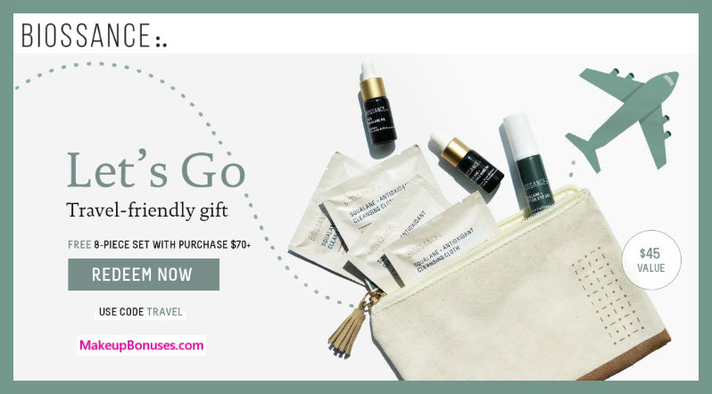 Receive a free 8-pc gift with $70 Biossance purchase