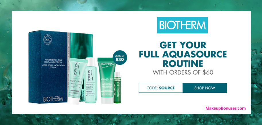Receive a free 4-pc gift with $60 Biotherm purchase
