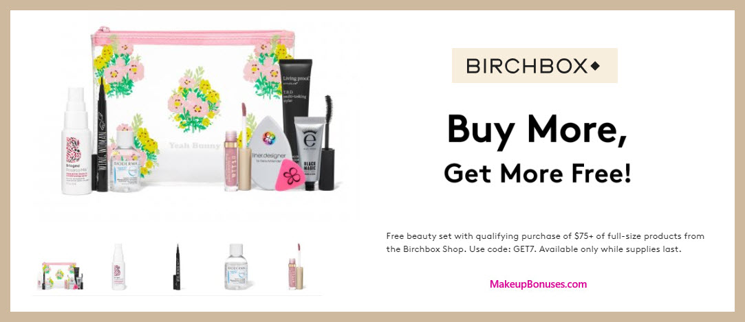 Receive a free 7-pc gift with $75 Multi-Brand purchase