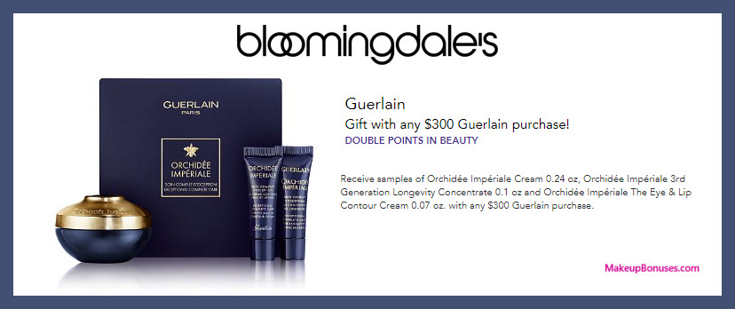Receive a free 3-pc gift with $300 Guerlain purchase