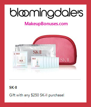 Receive a free 12-pc gift with $250 SK-II purchase