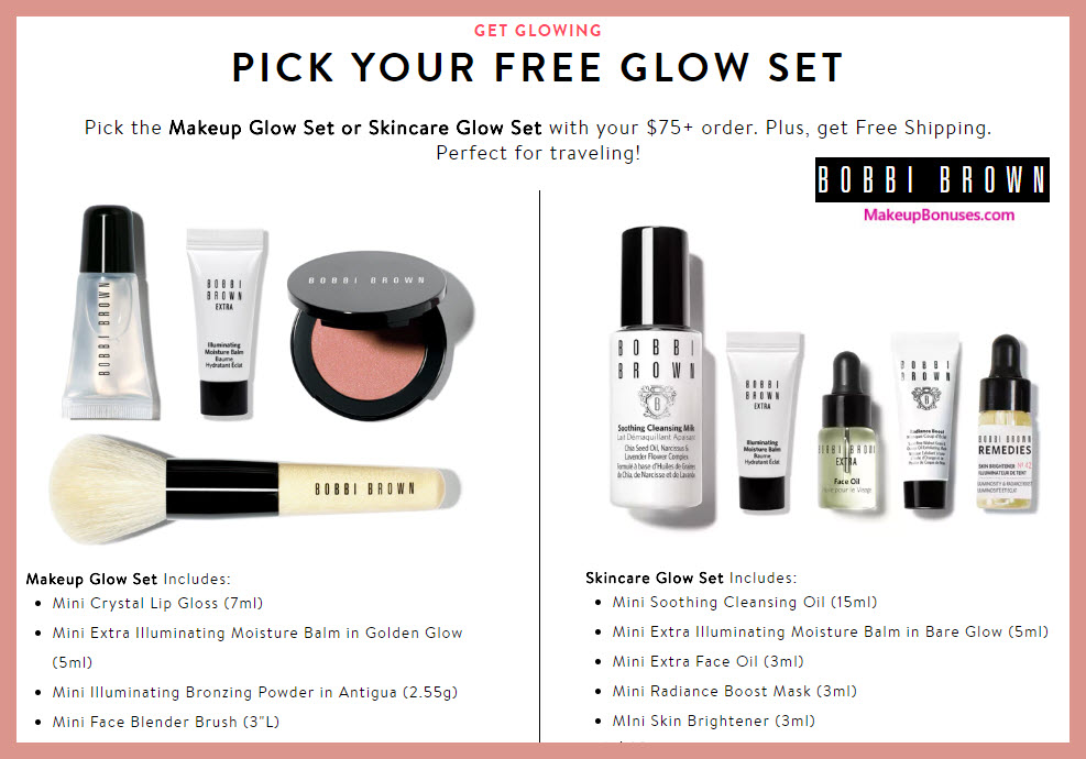 Receive your choice of 4-pc gift with $75 Bobbi Brown purchase