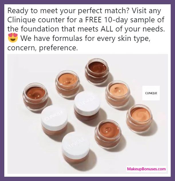 Clinique Free Foundation Sample - MakeupBonuses.com
