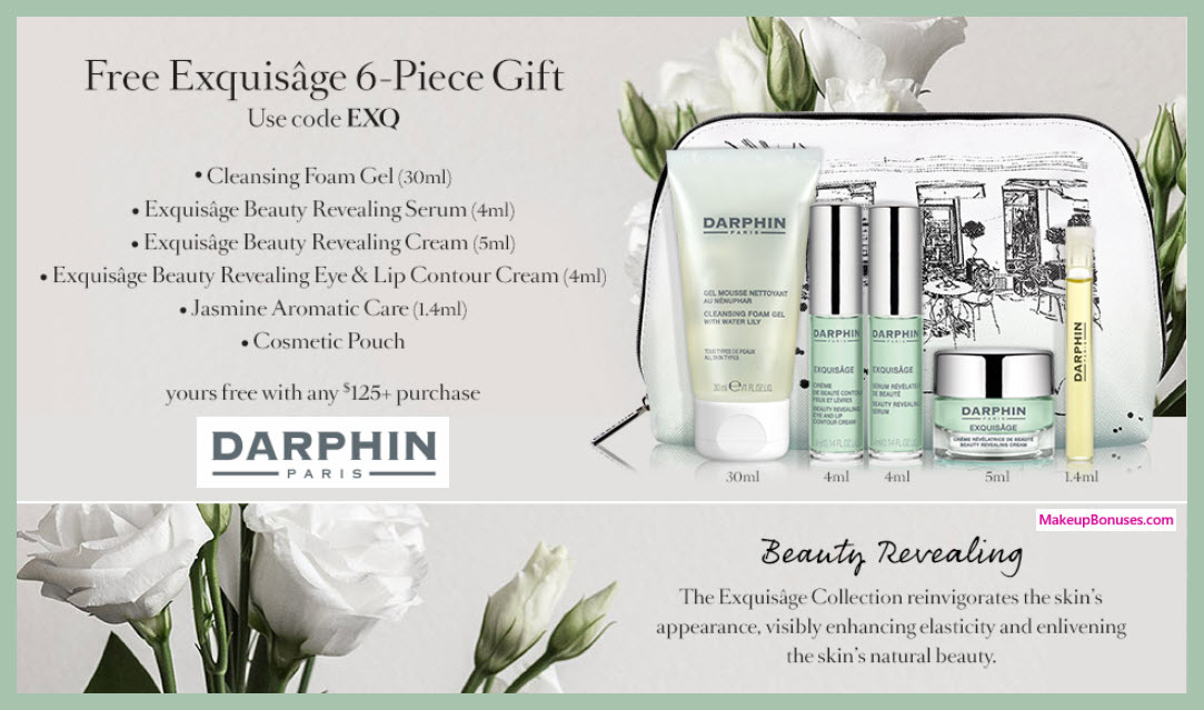 Receive a free 6-pc gift with $125 Darphin purchase