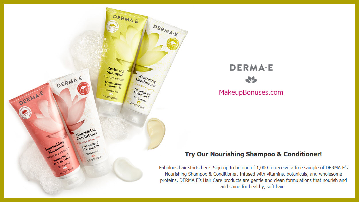 Derma E Free Sample - MakeupBonuses.com