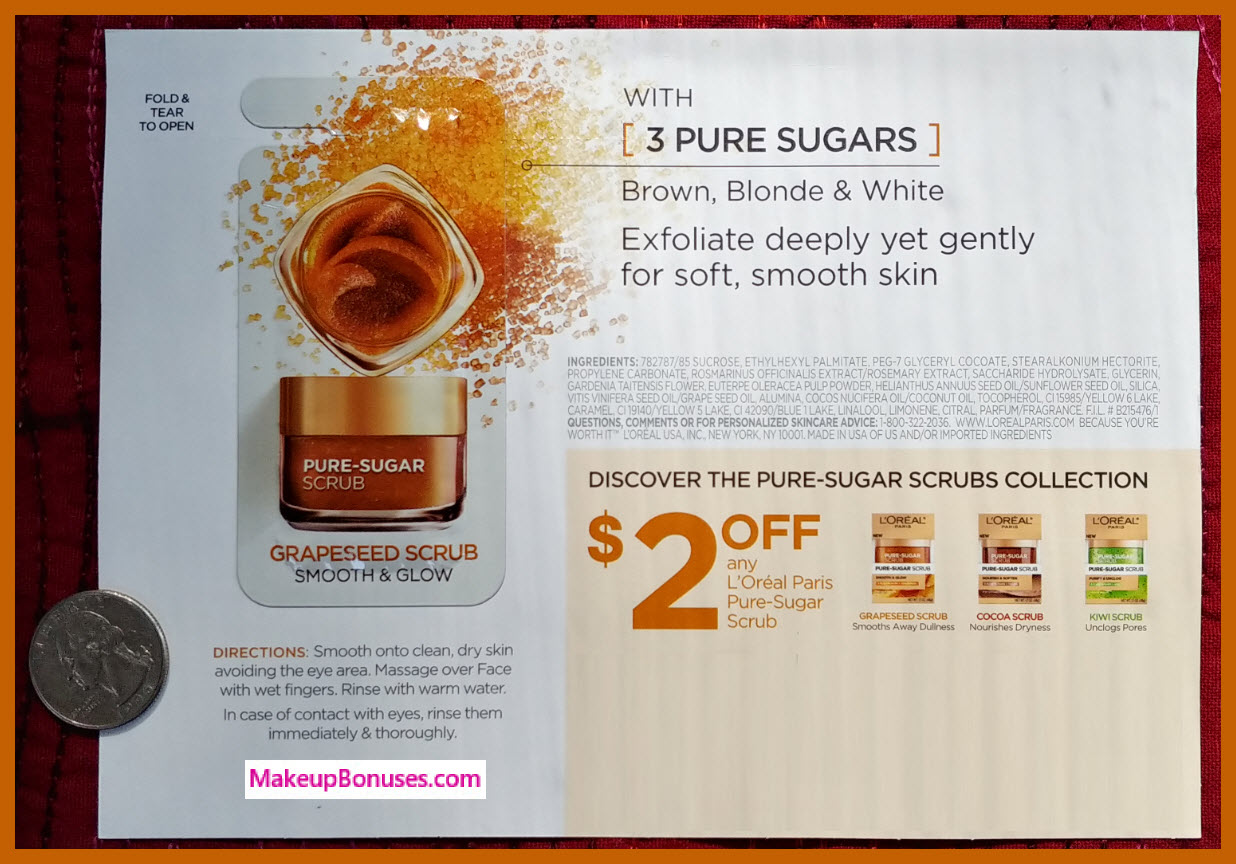 Free Pure Sugar Scrub Sample from L'Oreal - Makeup Bonuses