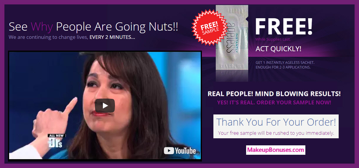 Instantly Ageless FREE No Cost Sample with Free Shipping - MakeupBonuses.com