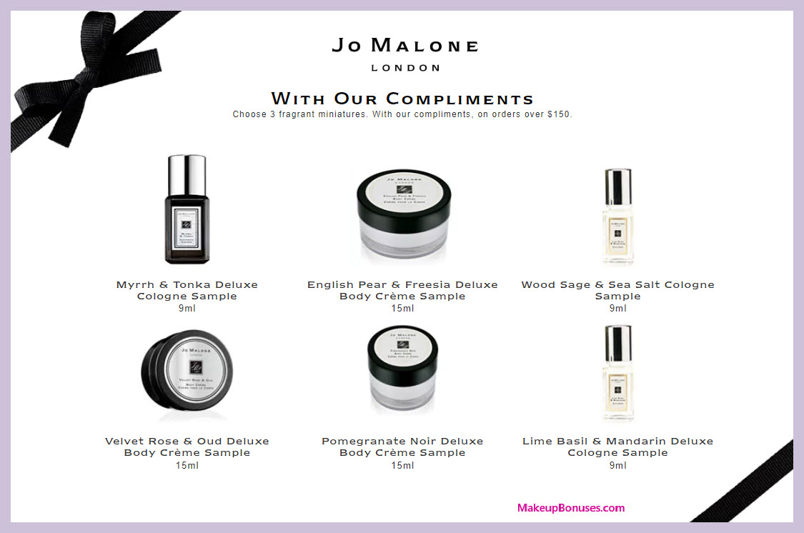 Receive your choice of 3-pc gift with $150 Jo Malone purchase