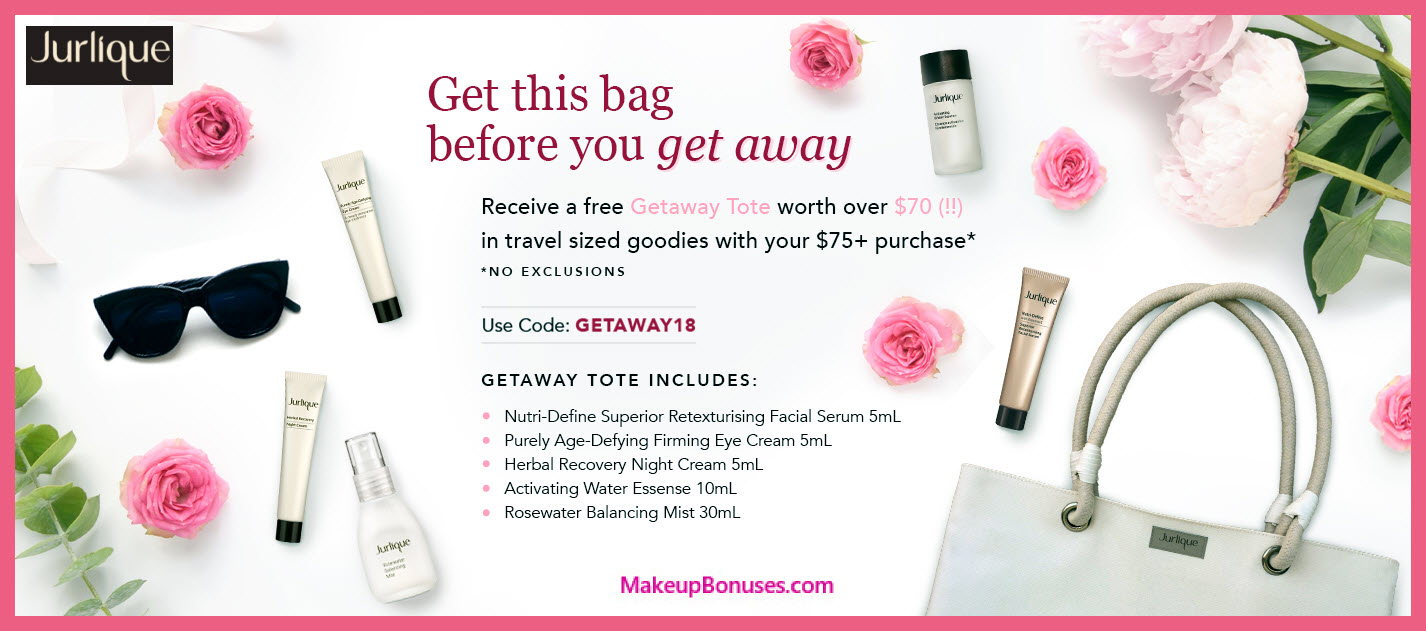 Receive a free 6-pc gift with $75 Jurlique purchase