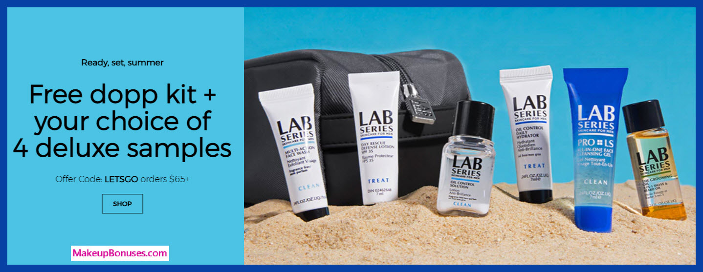 Receive a free 5-pc gift with $65 LAB SERIES purchase
