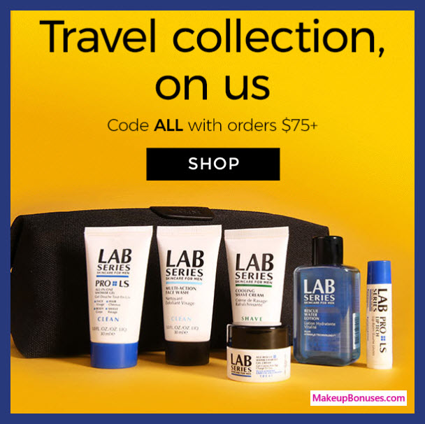 Receive a free 7-pc gift with $75 LAB SERIES purchase