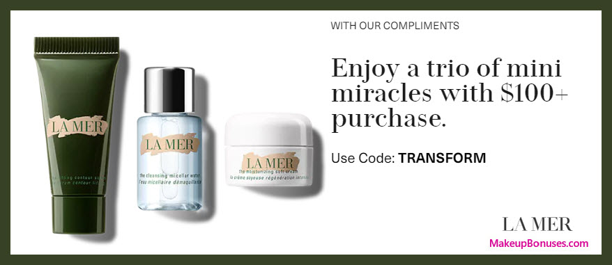 Receive a free 3-pc gift with $100 La Mer purchase