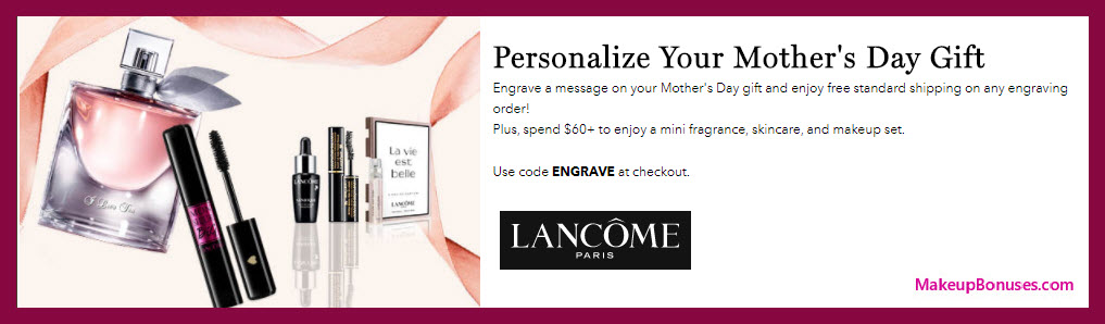Receive a free 3-pc gift with $60 Lancôme purchase