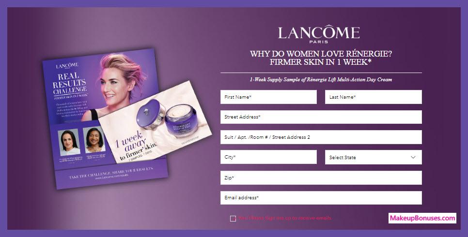 Lancôme RÉNERGIE Real Results Challenge - MakeupBonuses.com