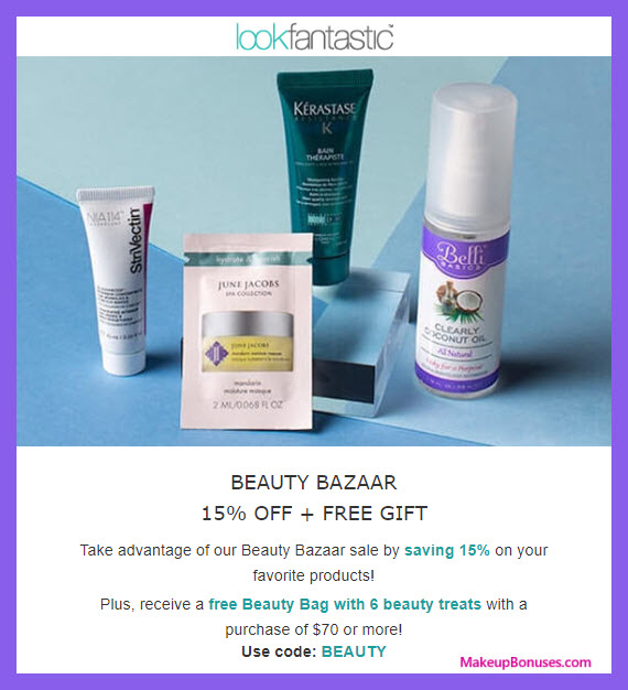 Receive a free 6-pc gift with $70 Multi-Brand purchase